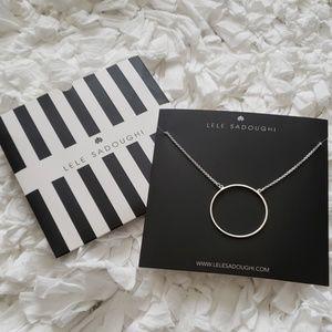 Lele Sadoughi circle necklace
